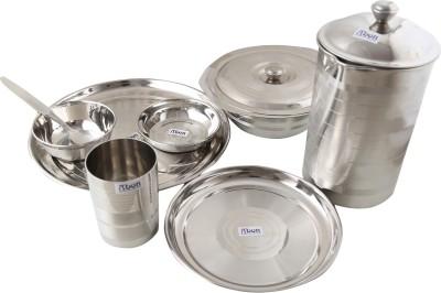 Abon Pack of 8 Dinner Set(Stainless Steel)