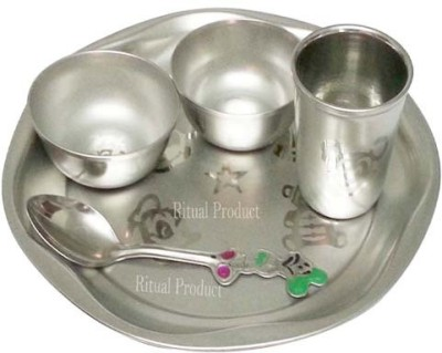 Make My Ritual Pack of 5 Dinner Set(Stainless Steel)