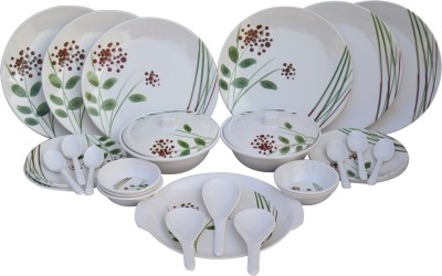 Czar GREENLEAF-32PIC Pack of 32 Dinner Set(Melamine)