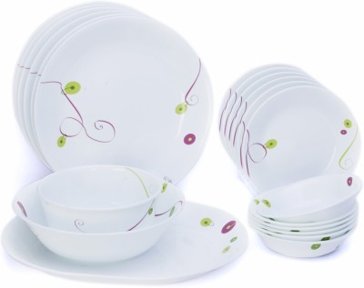 Corelle India Collection Royal Sequins Pack of 21 Dinner Set