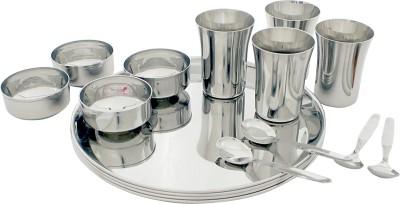 Kitchen Krafts Pack of 16 Dinner Set(Stainless Steel)