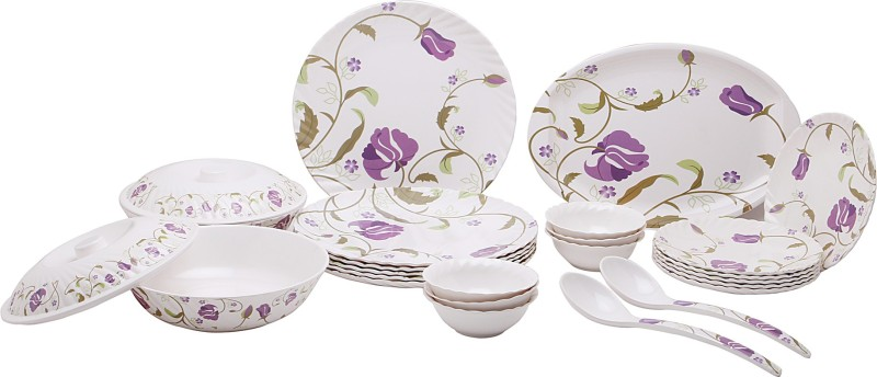 Vansh Traders Food Grade Pure Melamine Pack of 24 Dinner Set(Melamine)