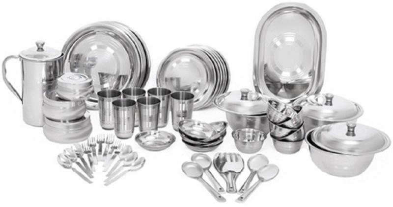 Scitek Pack of 61 Dinner Set(Stainless Steel)