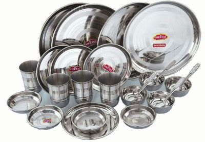 Sheetal gold 24 - Stainless Steel Dinner Set Pack of 24 Dinner Set