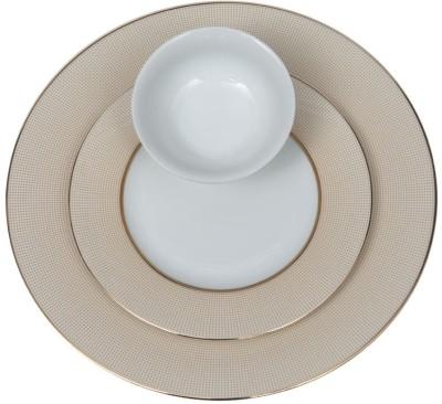 Lakline 80140 Pack of 18 Dinner Set(Porcelain)