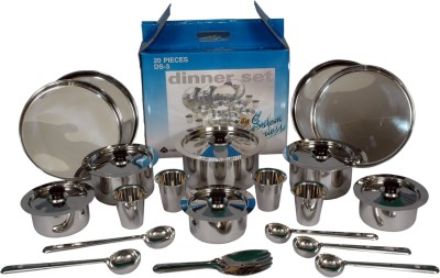SAIL SALEM STAINLESS Pack of 20 Dinner Set(Stainless Steel)