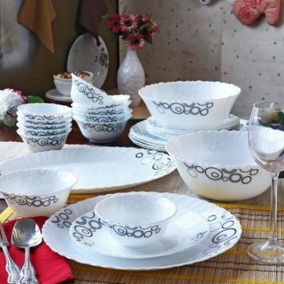 La Opala Misty Drops Pack of 33 Dinner Set(Ceramic)