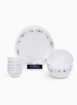 Corelle Pack of 14 Dinner Set(Opalware)