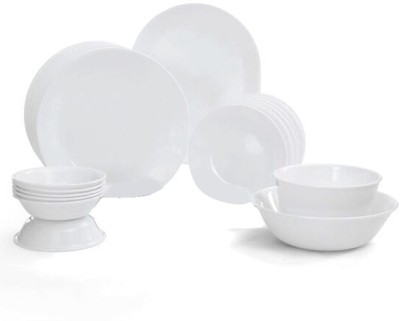 Corelle Livingware Winter Frost Pack of 21 Dinner Set(Glass)