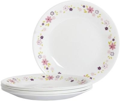 Corelle Livingware Floral Fantasy Pack of 6 Dinner Set(Glass)