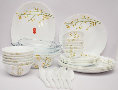 La Opala Citron Weave Pack of 35 Dinner Set(Ceramic)