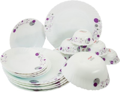 La Opala Diva Pack of 19 Dinner Set(Glass)