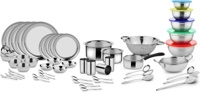 Classic Essential Dinner Set(Steel) at flipkart