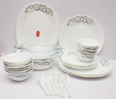 La Opala Misty Drops Pack of 35 Dinner Set(Ceramic)