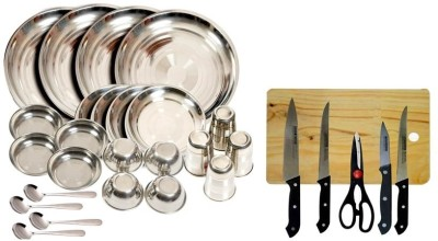 Kitchen Pro Pack of 30 Dinner Set(Stainless Steel)