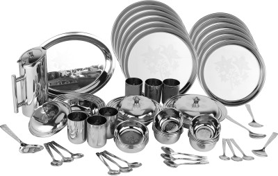 Chikkumikku Pack of 57 Dinner Set(Stainless Steel)