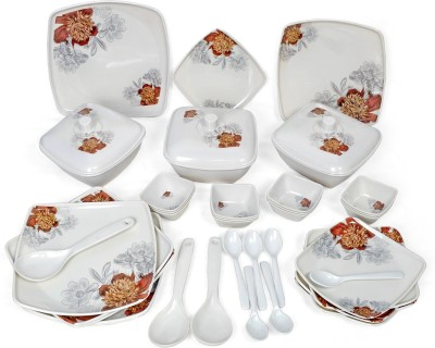 Navkar-Cp Pack of 40 Dinner Set(Melamine)