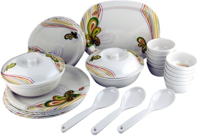 RV2 Pack of 32 Dinner Set(Melamine)