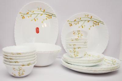La Opala Citron Weave Pack of 27 Dinner Set(Ceramic)