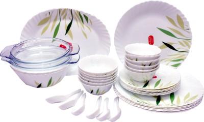 La Opala Gentle Meadows Pack of 33 Dinner Set(Ceramic)