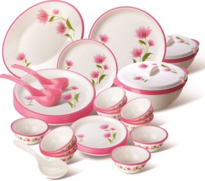 Nayasa round pack of 32 dinner set polypropylene available for Kitchen set on flipkart