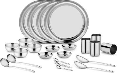 Classic Essential Pack of 24 Dinner Set(Steel) at flipkart