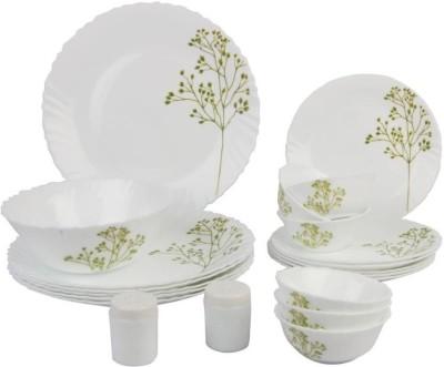 Laopala Blissfull Greens Pack of 20 Dinner Set(Opalware, Glass)