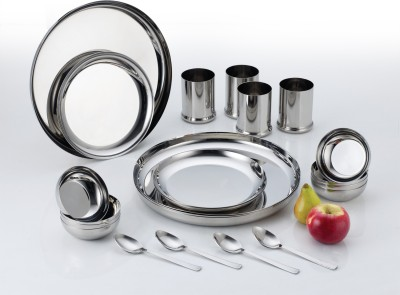 Aristo Stainless Steel Rajwadi Pack of 24 Dinner Set