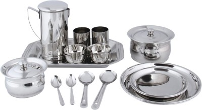 RV2 Pack of 18 Dinner Set(Stainless Steel)