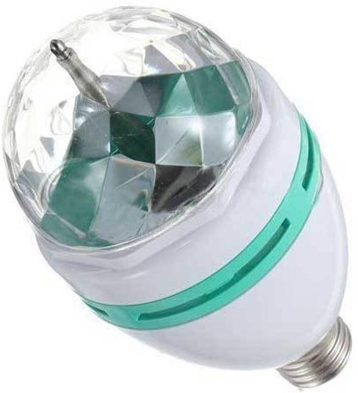 Adraxx E27 3W Colorful Rotating RGB Spot Light For Party And Dance Single Disco Ball(Ball Diameter: 9 cm)