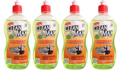 Cleanmax 500ml (Pack of 4) CONCENTRATED Dish Cleaning Gel