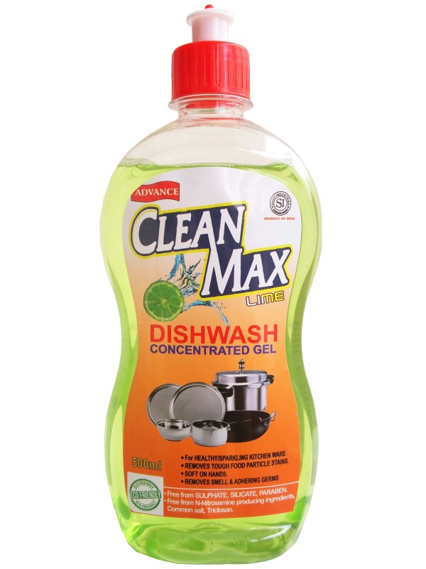 Cleanmax 500ml CONCENTRATED Dish Cleaning Gel(LIME)
