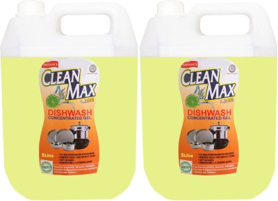Cleanmax 5L (Pack of 2) CONCENTRATED Dish Cleaning Gel(LIME)
