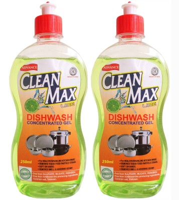 Cleanmax 250ml (Pack of 2) CONCENTRATED Dish Cleaning Gel(LIME)