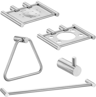Doyours 5 Pieces Bathroom Accessories Set (Set-S4) Stainless Steel Bathroom Set