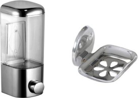 FLICKER GLOSSY Steel, Plastic Bathroom Set