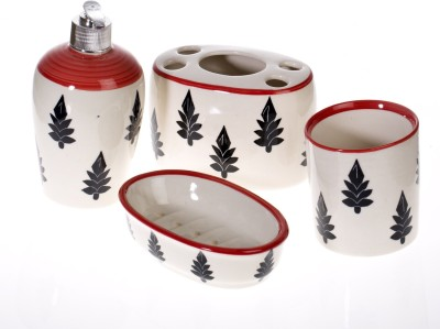 Urban Monk Creations Chi Stone Ware Ceramic Bathroom Set