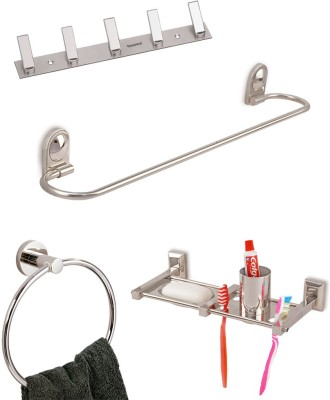Doyours Stainless Steel 4 Pieces Washroom Accessories Set (D2 series) Stainless Steel Bathroom Set
