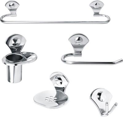 Handy 5 Pcs Stainless Steel Full Bath Sets Stainless Steel Bathroom Set(Pack of 5)