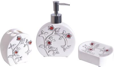 Vola Orchid Bathroom Set With Red Crystals Ceramic Bathroom Set