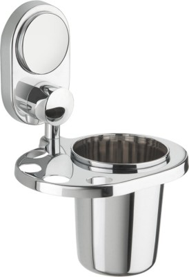 Doyours SS Glass / Tumbler Holder with Stainless Steel Toothbrush Holder