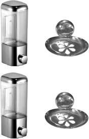 DEVICE IN LION GLOSSY Stainless Steel Bathroom Set