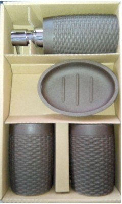Freelance Soho 4 Piece Stoneware Bathroom Set