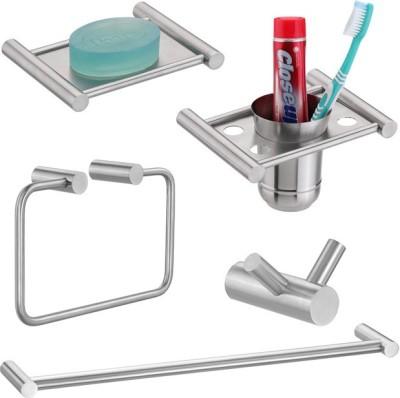Doyours 5 Pieces Bathroom Accessories Set (Set-S3) Stainless Steel Bathroom Set
