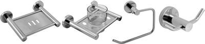 Klaxon Krysil Stainless Steel Bathroom Set