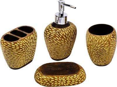 home creations Wooden style bath set Marble Bathroom Set