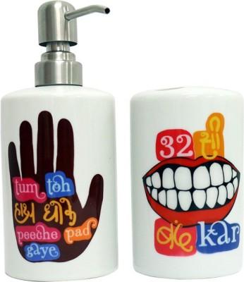 Keep Calm Desi Ceramic Bathroom Set