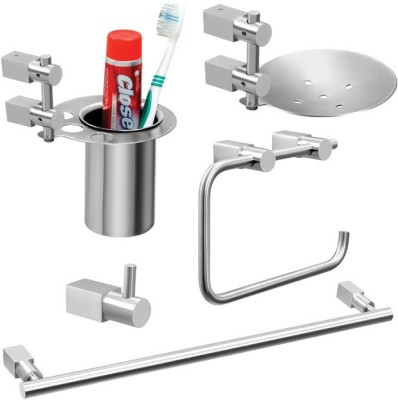 Doyours 5 Pieces Bathroom Accessories Set, Hotelier series 2 Stainless Steel Bathroom Set(Pack of 5)