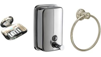 DEVICE IN LION GLOSSY Steel, Plastic Bathroom Set