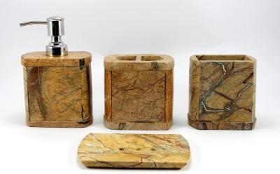 Stonkraft Natural Marble Stone Stoneware Bathroom Set